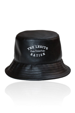 Fisherman Hat - Leather Nation (Black)