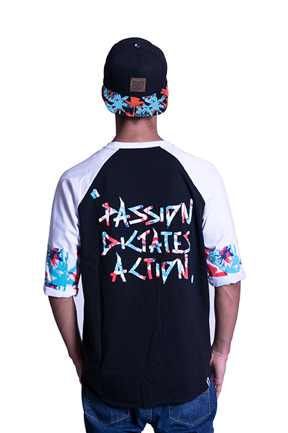 The Legits Paradise Raglan Tee back