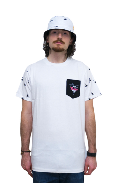FLAMINGO POCKET TEE front