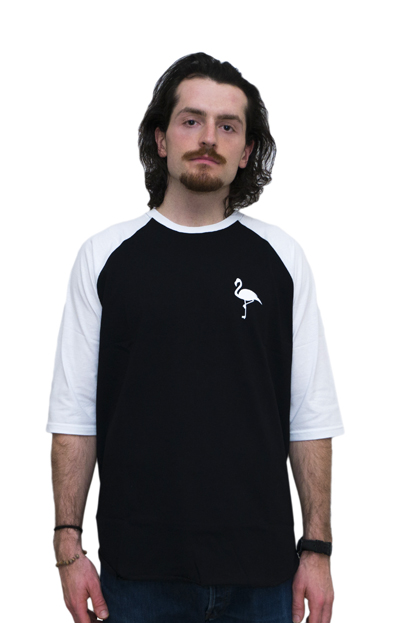 FLAMINGO RAGLAN TEE back